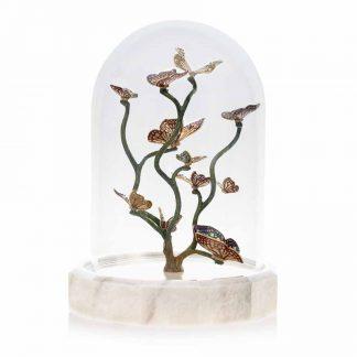 Jay Strongwater Flora Fauna Aldora Butterfly Branch Cloche