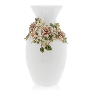 Jay Strongwater Flora Fauna Gabrielle Rose Grand Vase
