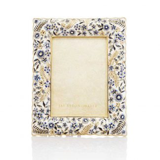 "Jay Strongwater Florence Ruffle 5"" X 7"" Frame"