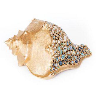 Jay Strongwater Geneva Conch Shell Figurine - Oceana