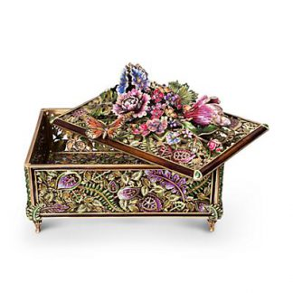 Jay Strongwater Genevieve Grand Floral Chest - Flora