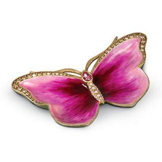 Jay Strongwater Juliet Butterfly Trinket Tray - Flora