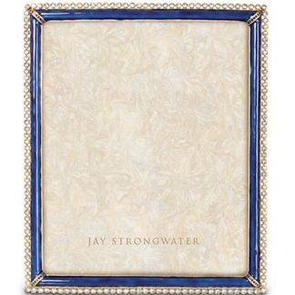 "Jay Strongwater Laetitia Stone Edge 8"" x 10"" Frame - Delft Garden"