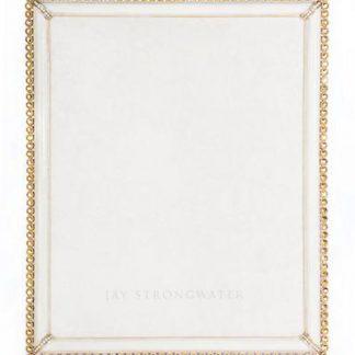"Jay Strongwater Laetitia  Stone Edge 8"" x 10"" Frame - Gold"
