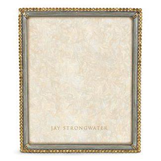 "Jay Strongwater Laetitia Stone Edge 8"" x 10"" Frame - Silver"