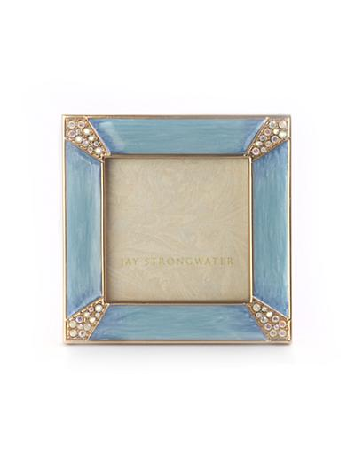 Jay Strongwater Leland Pave Corner 2″ Square Frame – Periwinkle ...