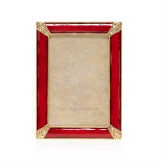 "Jay Strongwater Leonard Pave Corner 4"" X 6"" Frame"