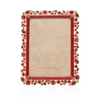 "Jay Strongwater Leslie Bejeweled 5"" X 7"" Frame"