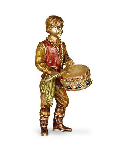 Jay Strongwater Little Drummer Boy Figurine - Jewel