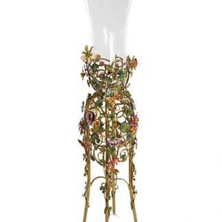 Jay Strongwater Madden Floral Standing Vase - Jewel