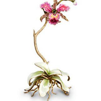 Jay Strongwater Marietta Orchid Objet - Flora