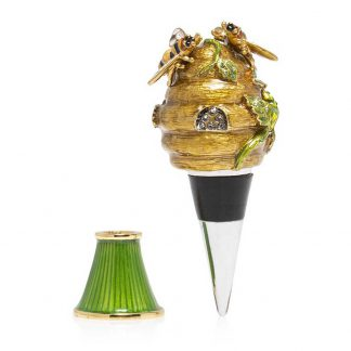 Jay Strongwater Mead - Beehive Wine Stopper And Stand