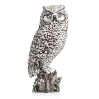 """Jay Strongwater Milo Owl 7"""" Figurine"""