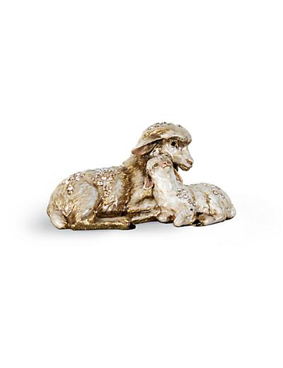 Jay Strongwater Mother & Baby Sheep Figurine - Natural