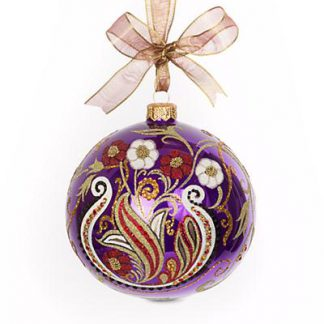 """Jay Strongwater Paisley Artisan 4"""" Ornament - Bouquet"""