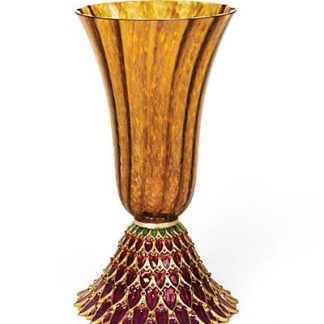 Jay Strongwater Sabrina Feather Vase - Bouquet