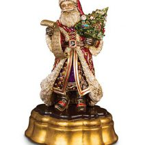 Jay Strongwater Santa on Wooden Base - Jewel