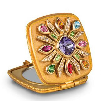 Jay Strongwater Schuyler Maltese Bejeweled Compact - Jewel