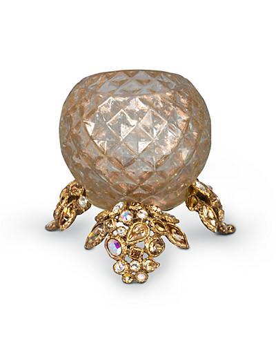 Jay Strongwater Tessa Bejeweled Tea Light - Golden