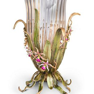 Jay Strongwater Valerie Orchid Vase - Flora