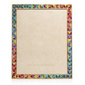 "Jay Strongwater Vertex - Pyramid 8"" X 10"" Frame"