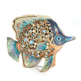 Jay Strongwater Weston Butterfly Fish Figurine - Oceana