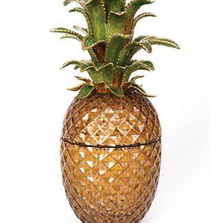Jay Strongwater Winston Pineapple Jeweled Glass Jar - Bouquet