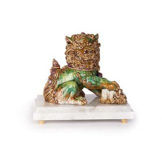 Jay Strongwater Yin Foo Dog Figurine - Chinoiserie