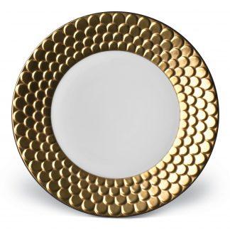 L Objet Aegean Gold Dessert Plate