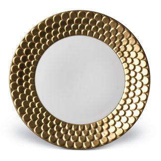 L Objet Aegean Gold Dinner Plate