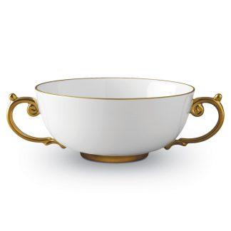 L Objet Aegean Gold Soup Bowl