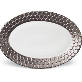 L Objet Aegean Platinum Oval Platter