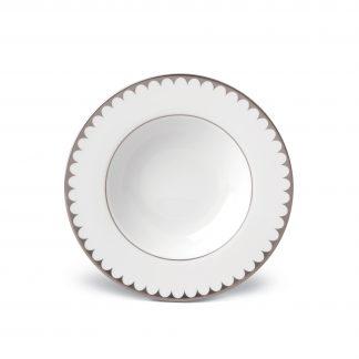 L Objet Aegean Platinum Soup Plate
