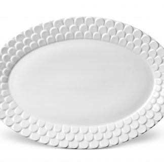 L Objet Aegean White Oval Platter