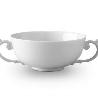 L Objet Aegean White Soup Bowl