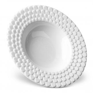 L Objet Aegean White Soup Plate