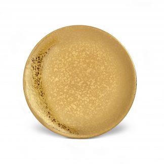 L Objet Alchimie Gold Bread Butter Plate