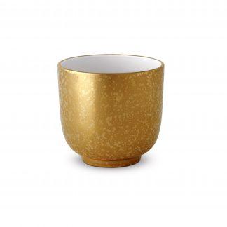 L Objet Alchimie Gold Cache Pot