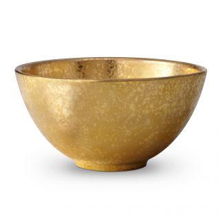 L Objet Alchimie Gold Cereal Bowl