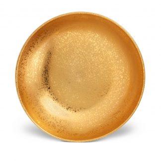 L Objet Alchimie Gold Coupe Bowl Large