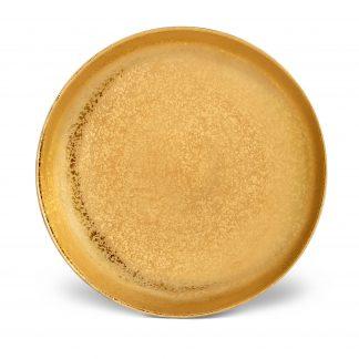 L Objet Alchimie Gold Coupe Bowl Medium