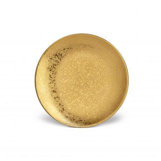 L Objet Alchimie Gold Dessert Plate