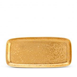 L Objet Alchimie Gold Rectangular Platter Large
