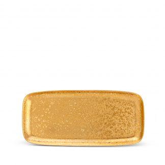 L Objet Alchimie Gold Rectangular Platter Medium