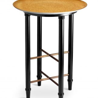L Objet Alchimie Gold Side Table