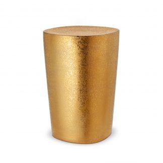 L Objet Alchimie Gold Stool