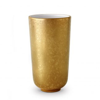 L Objet Alchimie Gold Vase Small