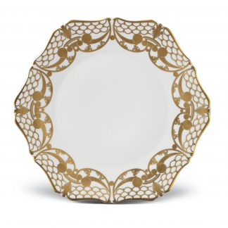 L Objet Alencon Gold Bread Butter Plate