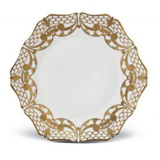 L Objet Alencon Gold Dessert Plate