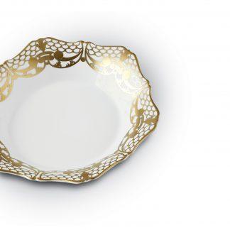 L Objet Alencon Gold Soup Plate
